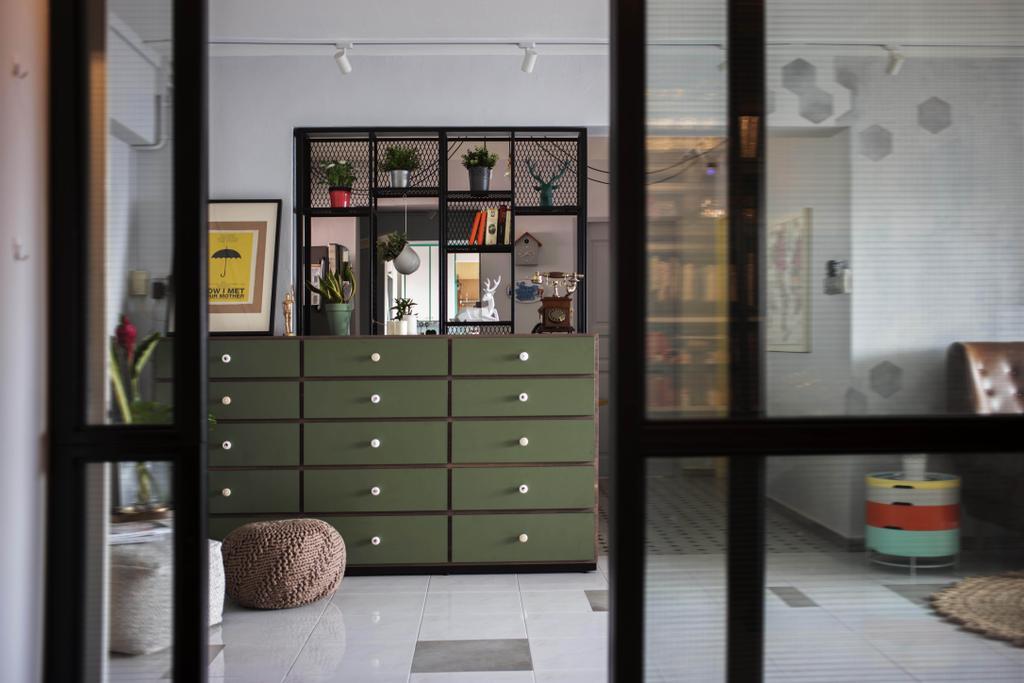 Eclectic, HDB, Living Room, Toa Payoh Lorong 3, Interior Designer, Hall Interiors