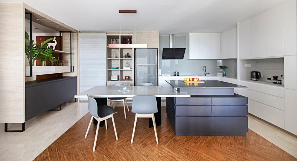 Contemporary, Condo, Dining Room, Silversea, Interior Designer, Hall Interiors, Flora, Jar, Plant, Potted Plant, Pottery, Vase, Indoors, Interior Design, Kitchen, Room, Dining Table, Furniture, Table, Hardwood, Wood