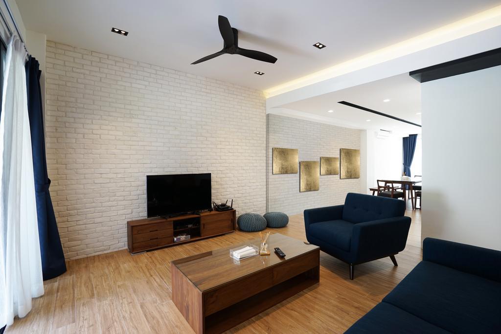 Landed, Living Room, Tai Hwan Terrace, Interior Designer, Metamorph Design, Couch, Furniture, Propeller, HDB, Building, Housing, Indoors, Loft, Coffee Table, Table, Interior Design