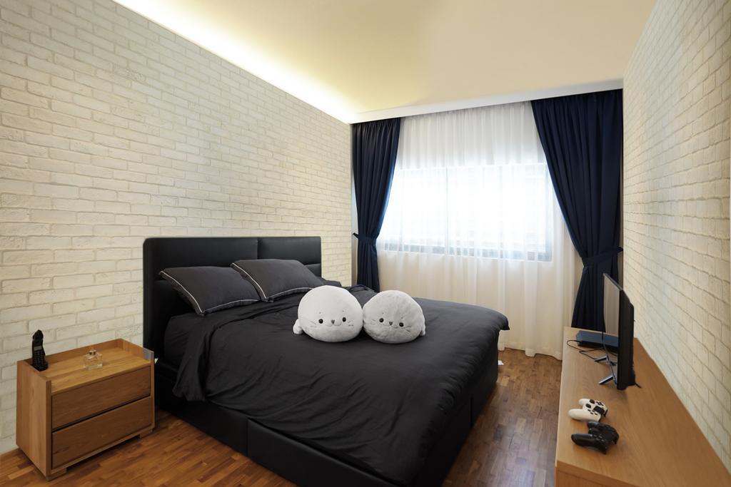 Landed, Bedroom, Tai Hwan Terrace, Interior Designer, Metamorph Design, Curtain, Home Decor, Indoors, Interior Design, Room