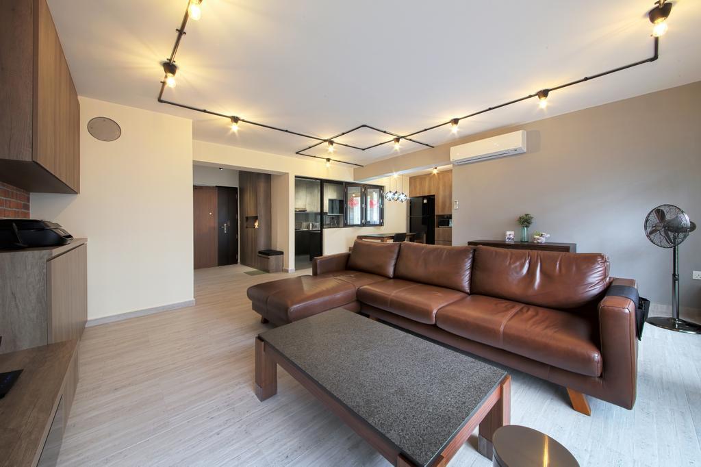 Scandinavian, HDB, Living Room, Compassvale Cape, Interior Designer, Dap Atelier, Industrial, Couch, Furniture, Indoors, Interior Design