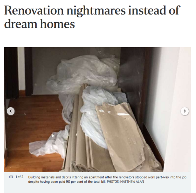 Renovation Scam Singapore Interior Designer