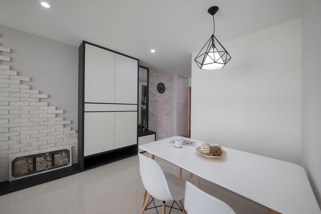 Minimalistic, HDB, Dining Room, Edgefield Plains, Interior Designer, Space Atelier
