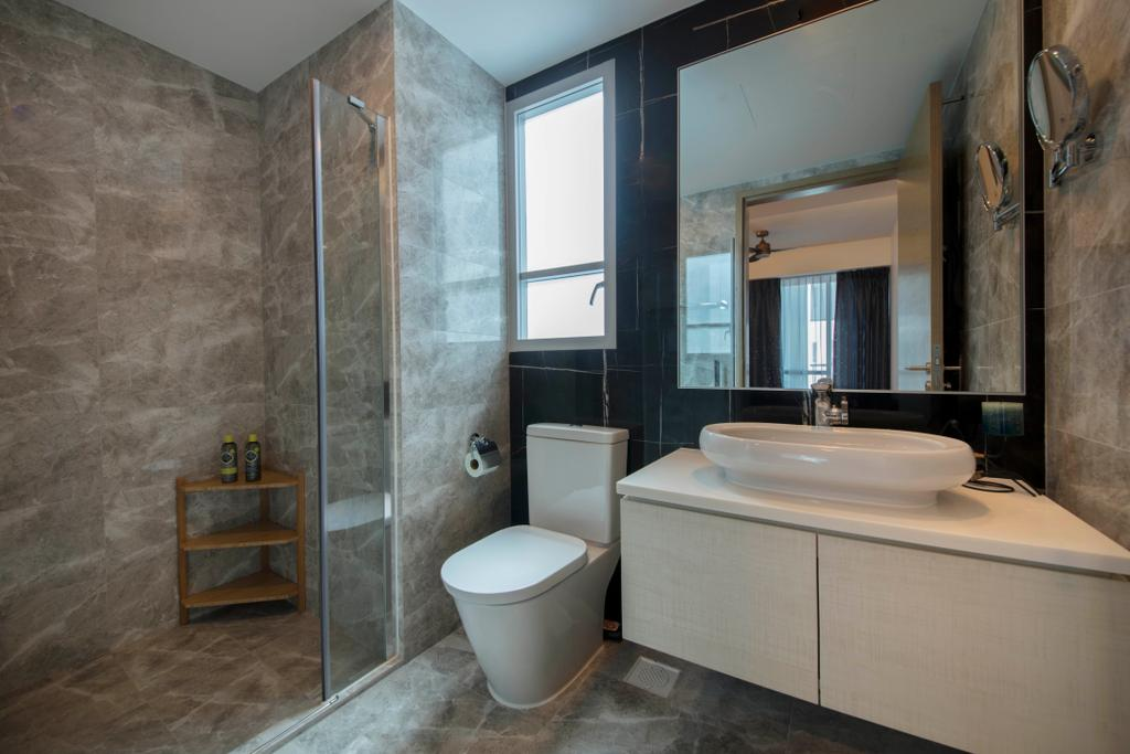 Contemporary, Condo, Bathroom, The Santorini, Interior Designer, Thom Signature Design