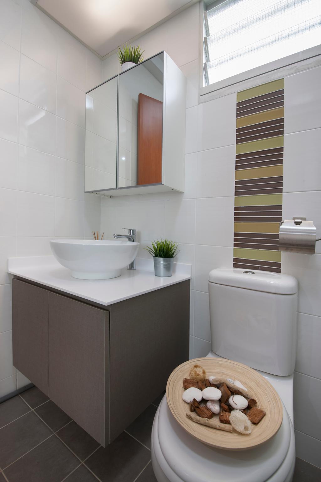 Minimalistic, HDB, Bathroom, Edgefield Plains, Interior Designer, Space Atelier