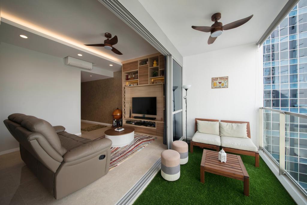 Contemporary, Condo, Balcony, The Santorini, Interior Designer, Thom Signature Design