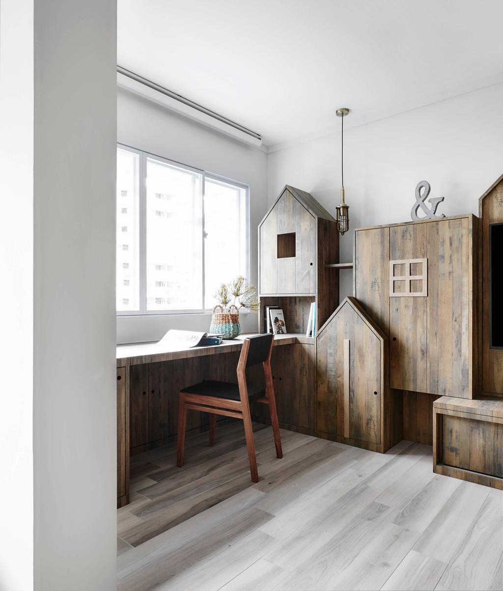 Scandinavian, HDB, Living Room, Bedok North, Interior Designer, Dan's Workshop, Chair, Furniture, Dining Table, Table