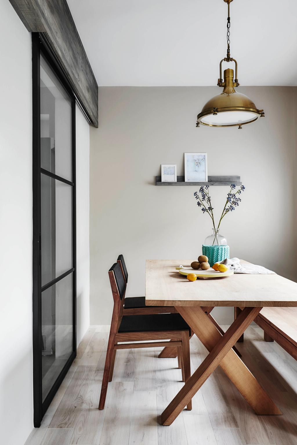 Scandinavian, HDB, Dining Room, Bedok North, Interior Designer, Dan's Workshop, Dining Table, Furniture, Table, Indoors, Interior Design, Room