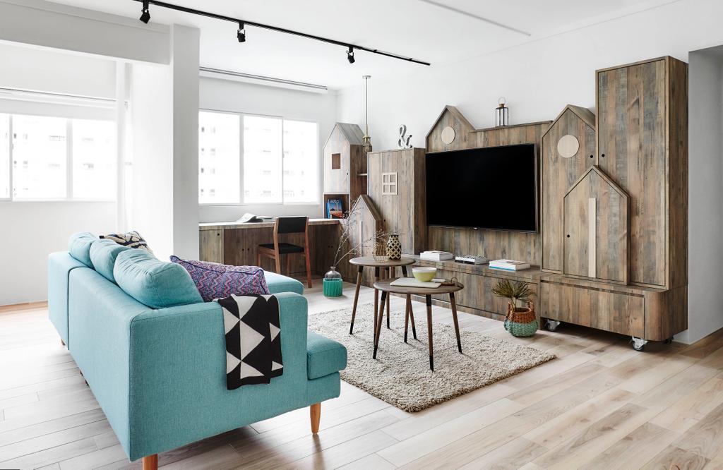 Scandinavian, HDB, Living Room, Bedok North, Interior Designer, Dan's Workshop, Cushion, Home Decor, Dining Table, Furniture, Table