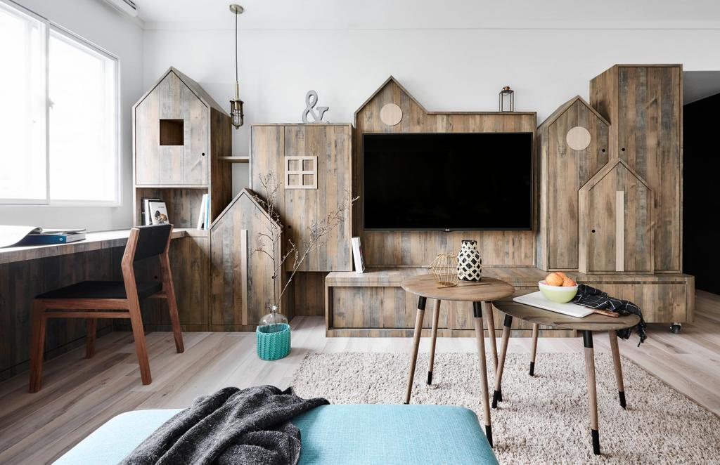 Scandinavian, HDB, Living Room, Bedok North, Interior Designer, Dan's Workshop, Chair, Furniture