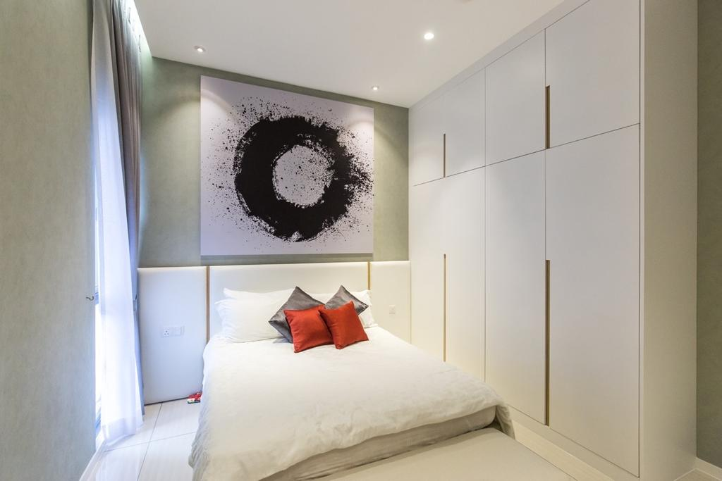 Modern, Landed, Bedroom, Twin Palms Sungai Long, Interior Designer, Klaasmen Sdn. Bhd., Contemporary, Indoors, Interior Design, Room