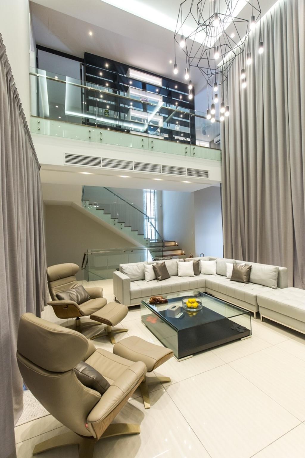 Modern, Landed, Twin Palms Sungai Long, Interior Designer, Klaasmen Sdn. Bhd., Contemporary, Couch, Furniture