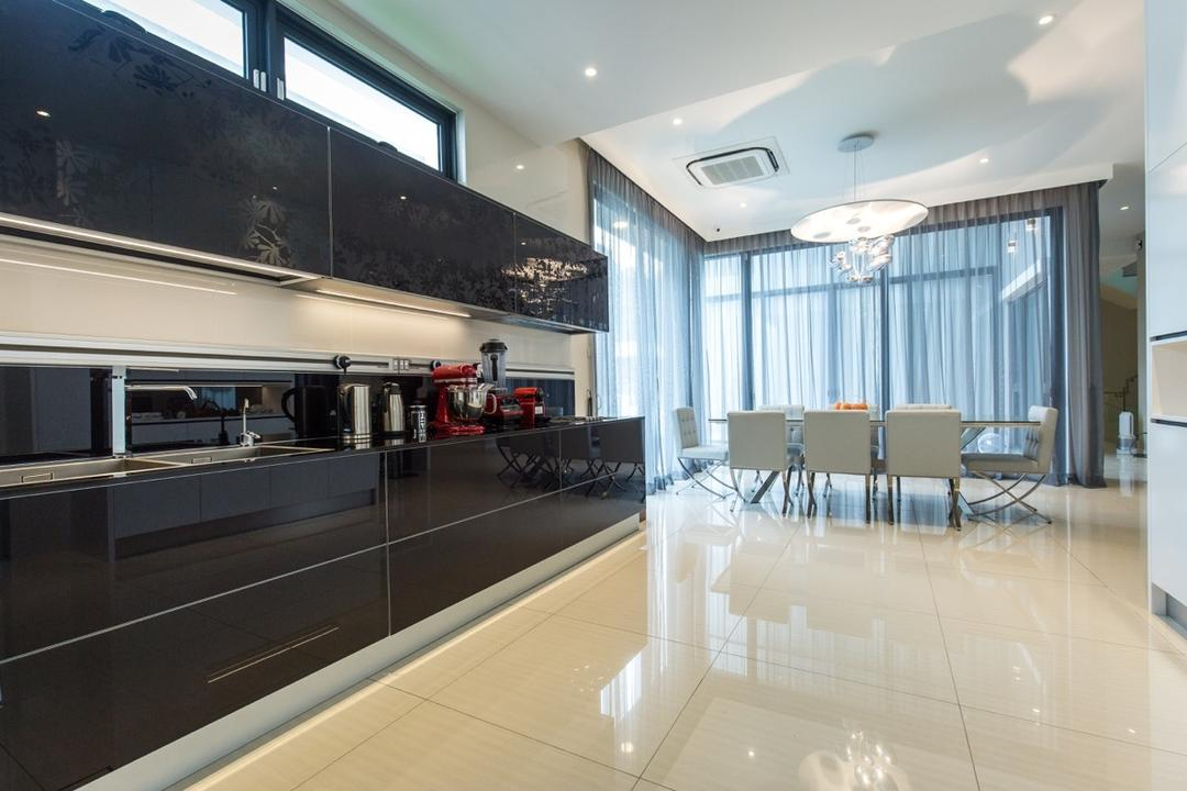 Twin Palms Sungai Long, Klaasmen Sdn. Bhd., Modern, Contemporary, Kitchen, Landed, Conference Room, Indoors, Meeting Room, Room, Interior Design