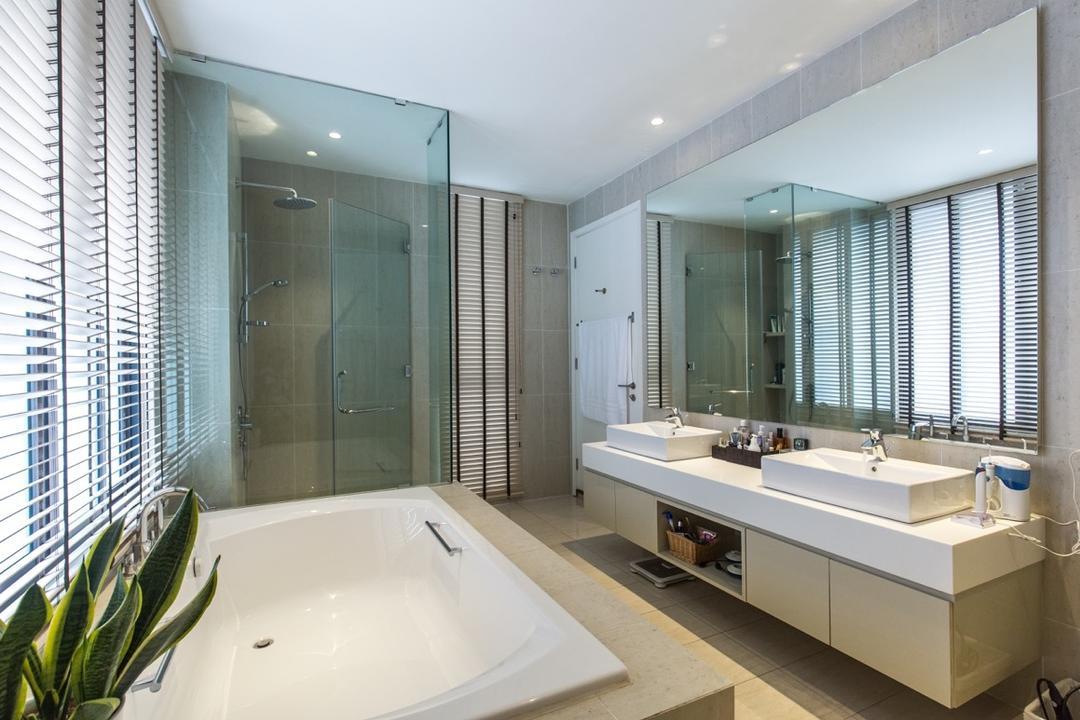 Twin Palms Sungai Long, Klaasmen Sdn. Bhd., Modern, Contemporary, Bathroom, Landed, Indoors, Interior Design, Room, Tub