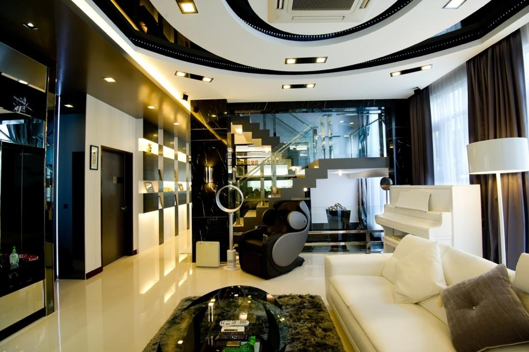 Setia Eco Park, Klaasmen Sdn. Bhd., Modern, Contemporary, Living Room, Landed, Couch, Furniture, Indoors, Interior Design, Cushion, Home Decor