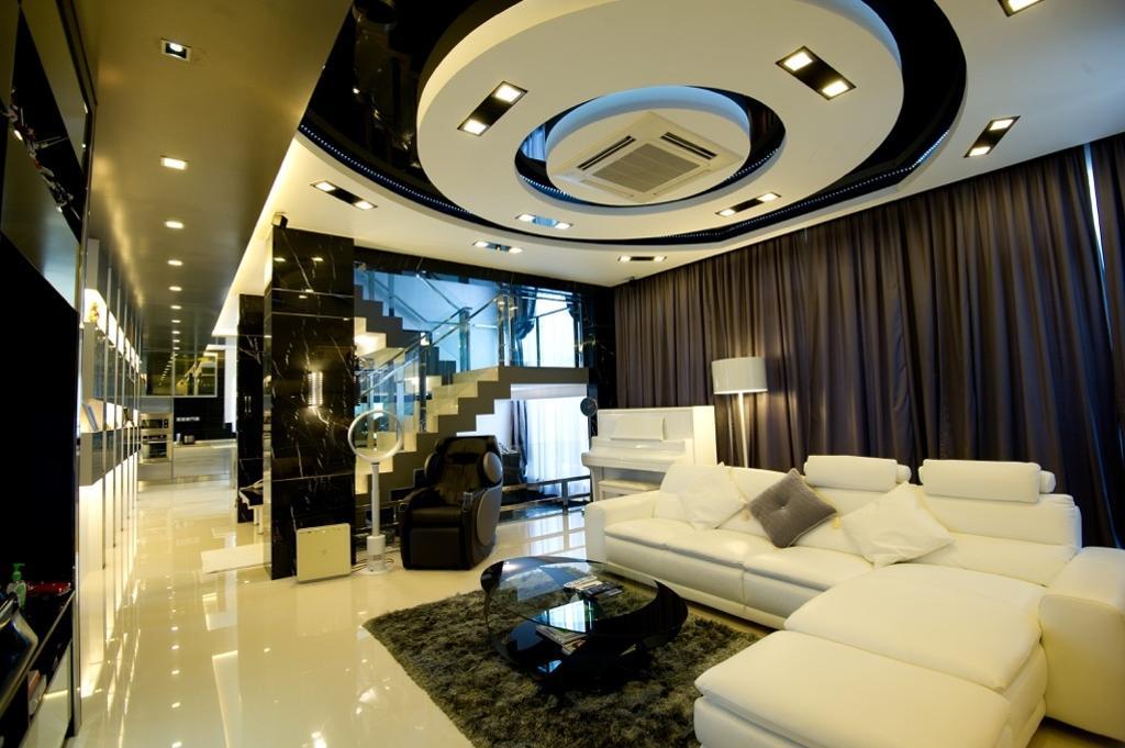 Modern, Landed, Living Room, Setia Eco Park, Interior Designer, Klaasmen Sdn. Bhd., Contemporary, Couch, Furniture, Indoors, Lobby, Room, Interior Design