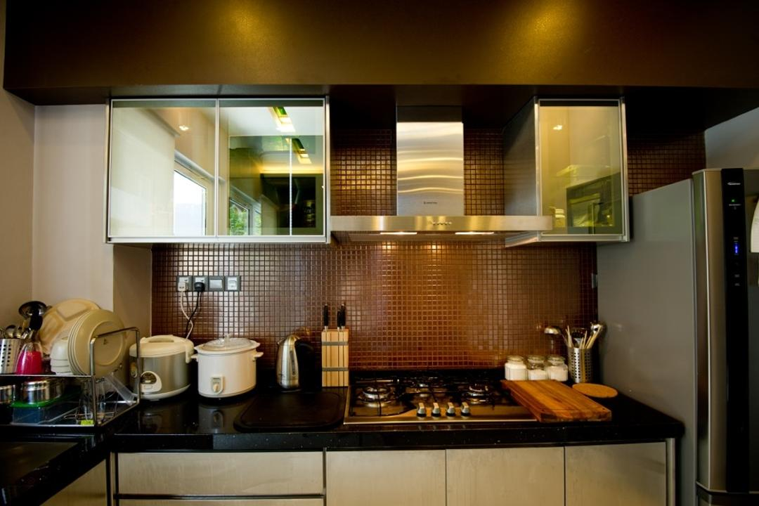 Setia Eco Park, Klaasmen Sdn. Bhd., Modern, Contemporary, Kitchen, Landed, Appliance, Electrical Device, Oven, Curtain, Home Decor, Window, Window Shade, Indoors, Interior Design, Room