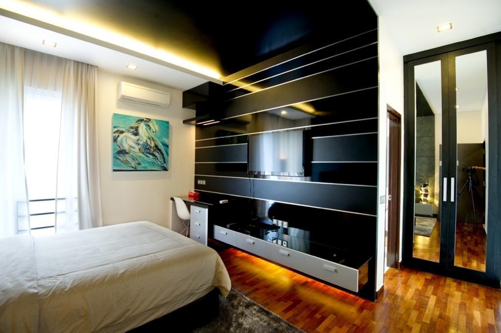 Modern, Landed, Setia Eco Park, Interior Designer, Klaasmen Sdn. Bhd., Contemporary, Bed, Furniture, Indoors, Room, Bedroom, Interior Design