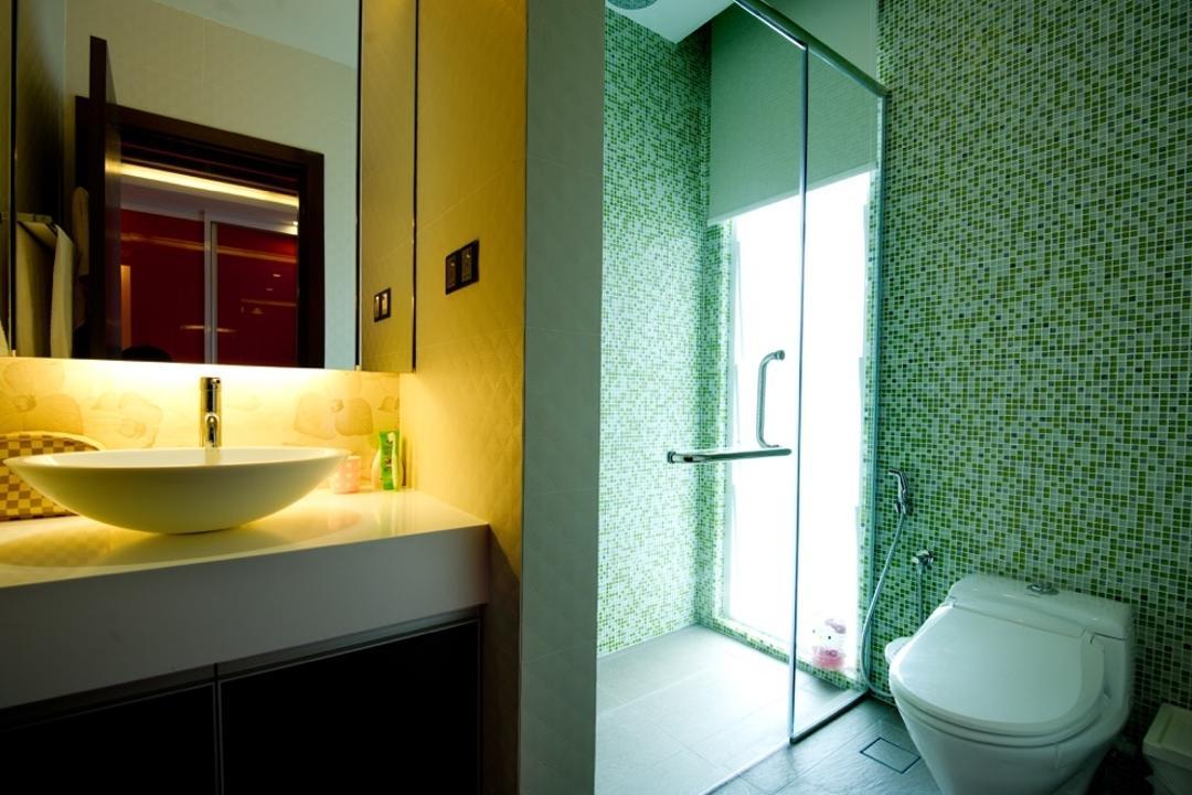 Setia Eco Park, Klaasmen Sdn. Bhd., Modern, Contemporary, Landed, Toilet, Bathroom, Indoors, Interior Design, Room, Molding