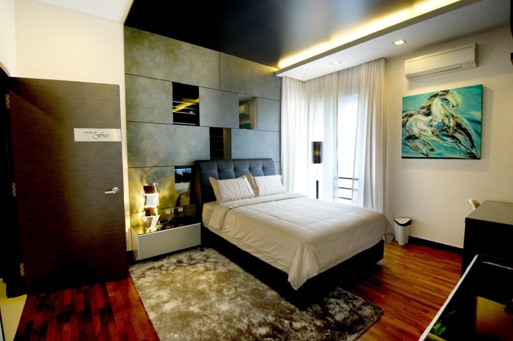 Modern, Landed, Bedroom, Setia Eco Park, Interior Designer, Klaasmen Sdn. Bhd., Contemporary, Bed, Furniture, Hardwood, Wood, Indoors, Interior Design, Room, Art, Painting