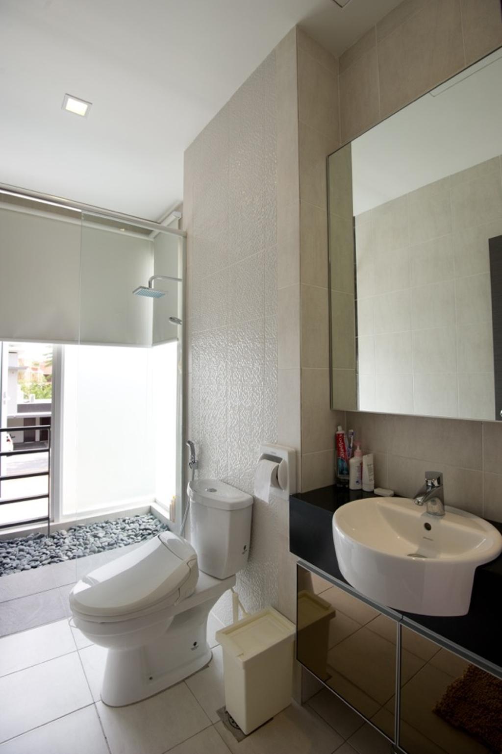 Modern, Landed, Bathroom, Setia Eco Park, Interior Designer, Klaasmen Sdn. Bhd., Contemporary, Toilet, Indoors, Interior Design, Room