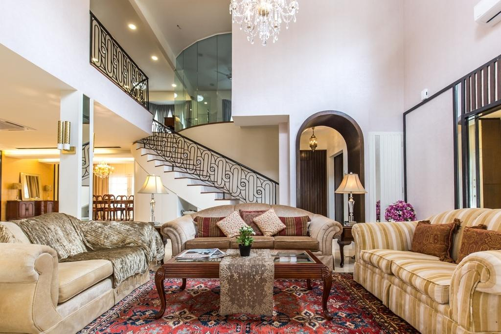 Eclectic, Landed, Taman Tar, Ampang, Interior Designer, Klaasmen Sdn. Bhd., Traditional, Couch, Furniture, Home Decor, Quilt, Indoors, Room