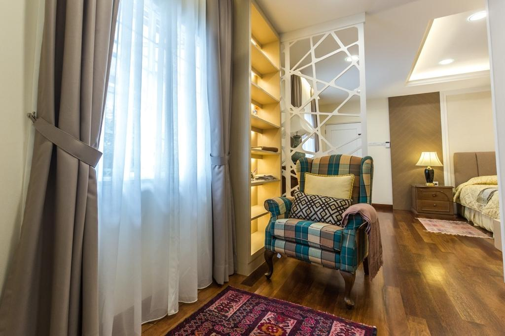 Eclectic, Landed, Taman Tar, Ampang, Interior Designer, Klaasmen Sdn. Bhd., Traditional, Flooring, Bedroom, Indoors, Interior Design, Room, Apartment, Building, Housing, Arch, Arched, Architecture, Vault Ceiling