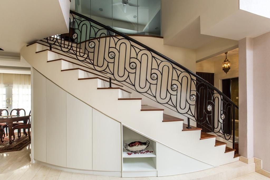 Eclectic, Landed, Taman Tar, Ampang, Interior Designer, Klaasmen Sdn. Bhd., Traditional, Bench, Dining Table, Furniture, Table, Banister, Handrail