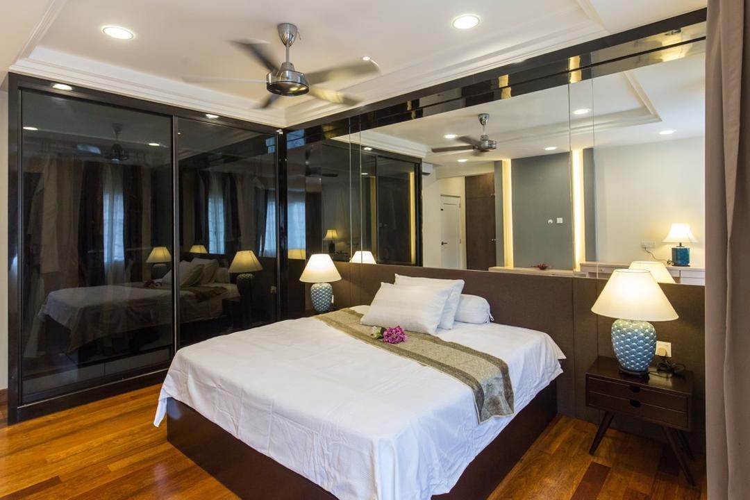 Taman Tar, Ampang, Klaasmen Sdn. Bhd., Eclectic, Traditional, Landed, Bed, Furniture, Indoors, Room, Interior Design, Lamp