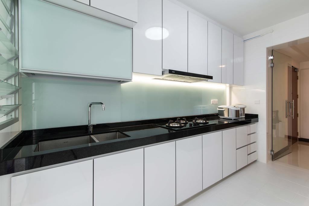 Modern, HDB, Kitchen, Fernvale Link (Block 415A), Interior Designer, AC Vision Design