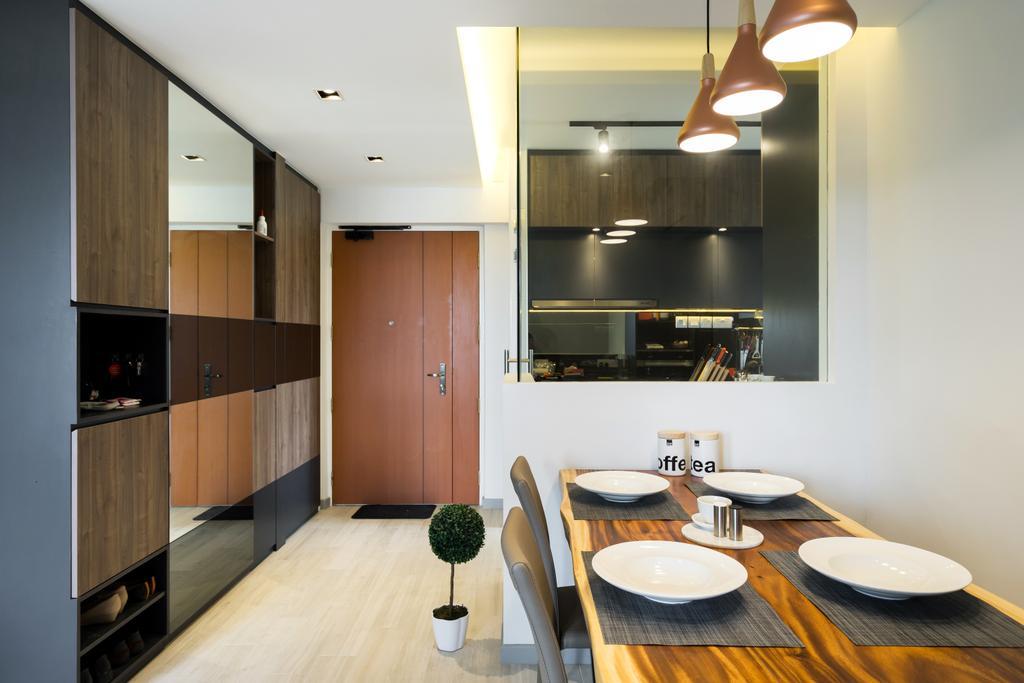 Contemporary, HDB, Dining Room, Depot Road, Interior Designer, Fineline Design, Indoors, Interior Design, Room, Dining Table, Furniture, Table