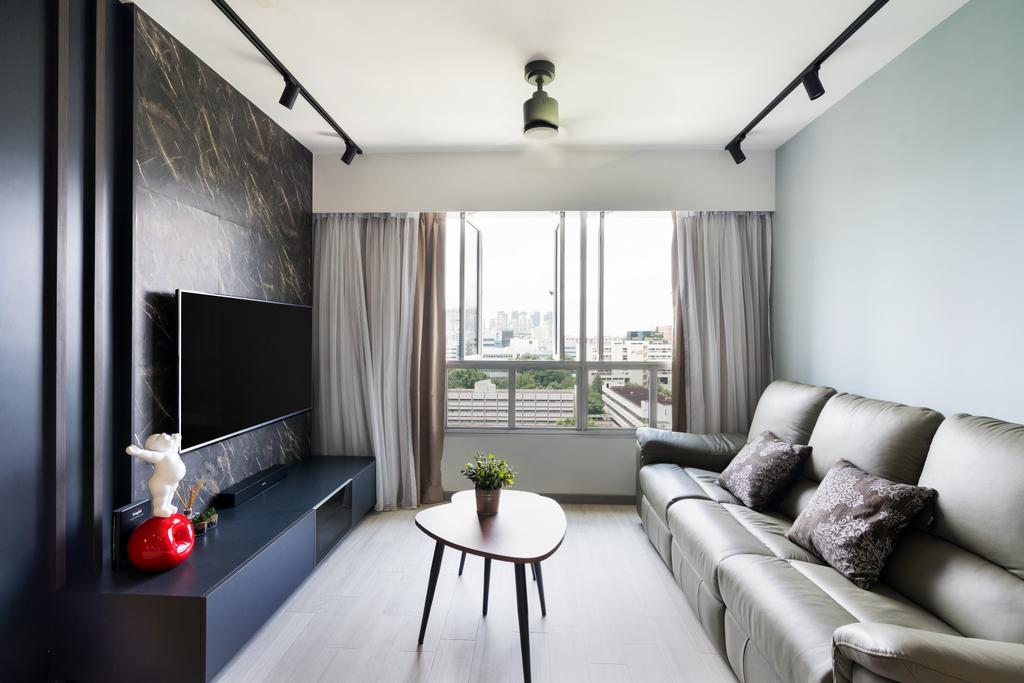 Contemporary, HDB, Living Room, Depot Road, Interior Designer, Fineline Design, Dining Table, Furniture, Table, Couch, Indoors, Room