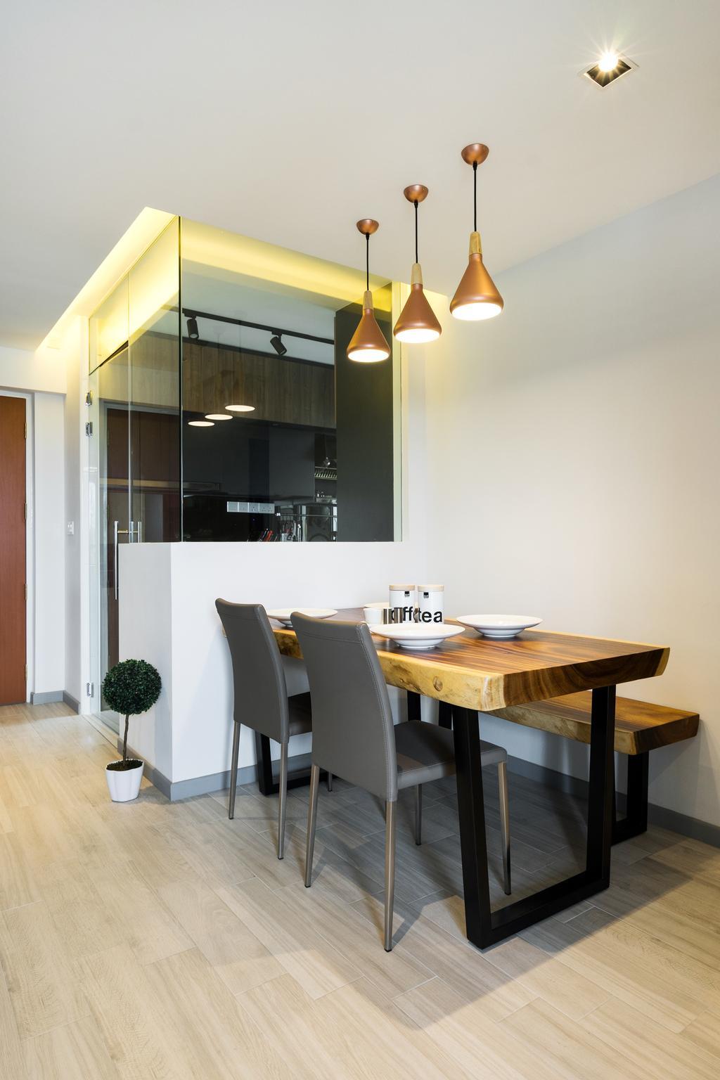 Contemporary, HDB, Dining Room, Depot Road, Interior Designer, Fineline Design, Indoors, Interior Design, Room, Dining Table, Furniture, Table, Chair