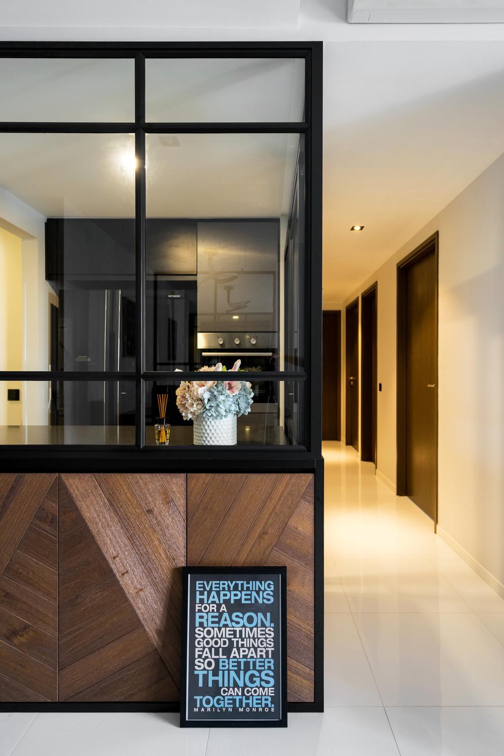 Industrial, Condo, Punggol Walk, Interior Designer, Fineline Design, Indoors, Interior Design, Kitchen, Room