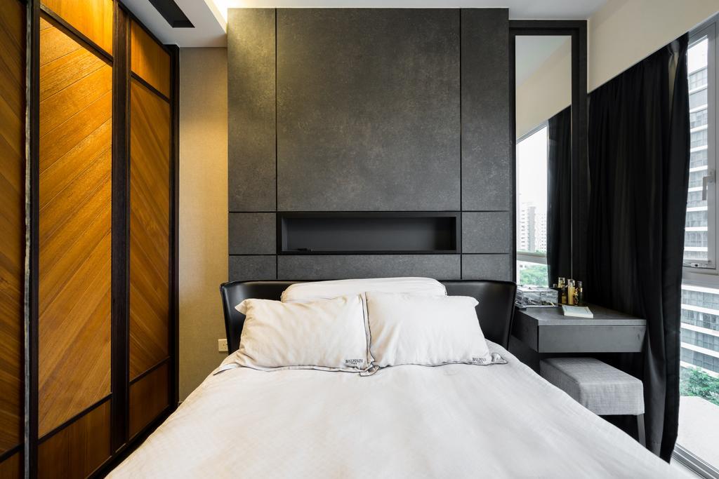 Industrial, Condo, Bedroom, Punggol Walk, Interior Designer, Fineline Design