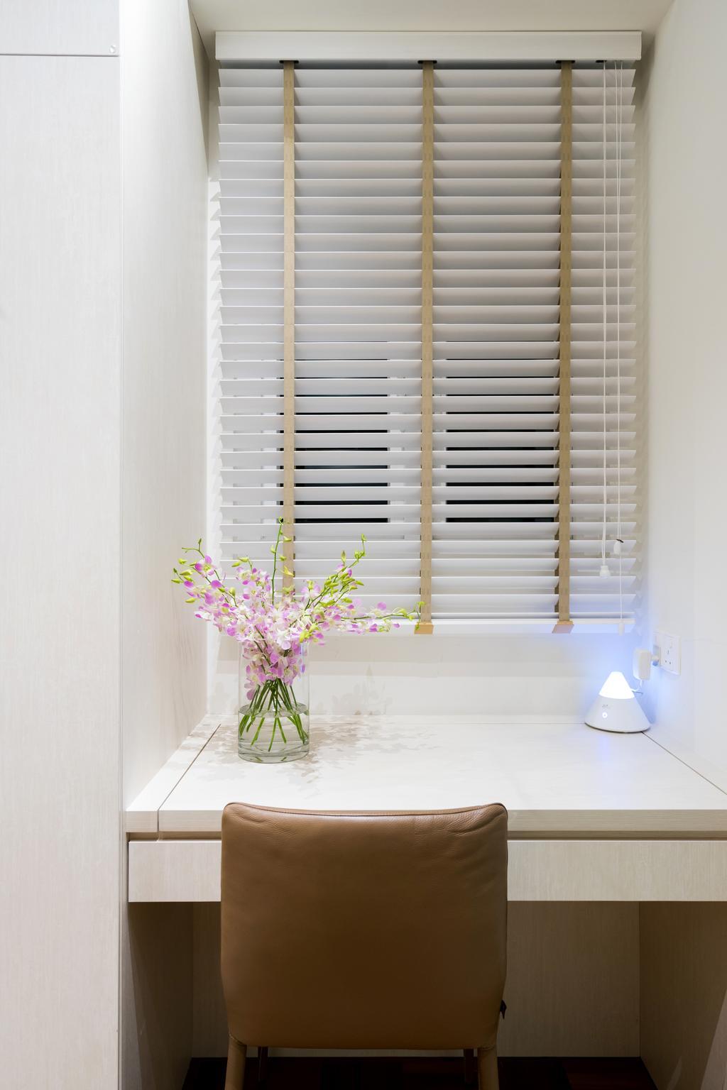 Scandinavian, Landed, Bedroom, Lorong 107 Changi, Interior Designer, Fineline Design, Curtain, Home Decor, Window, Window Shade, Flora, Jar, Plant, Potted Plant, Pottery, Vase