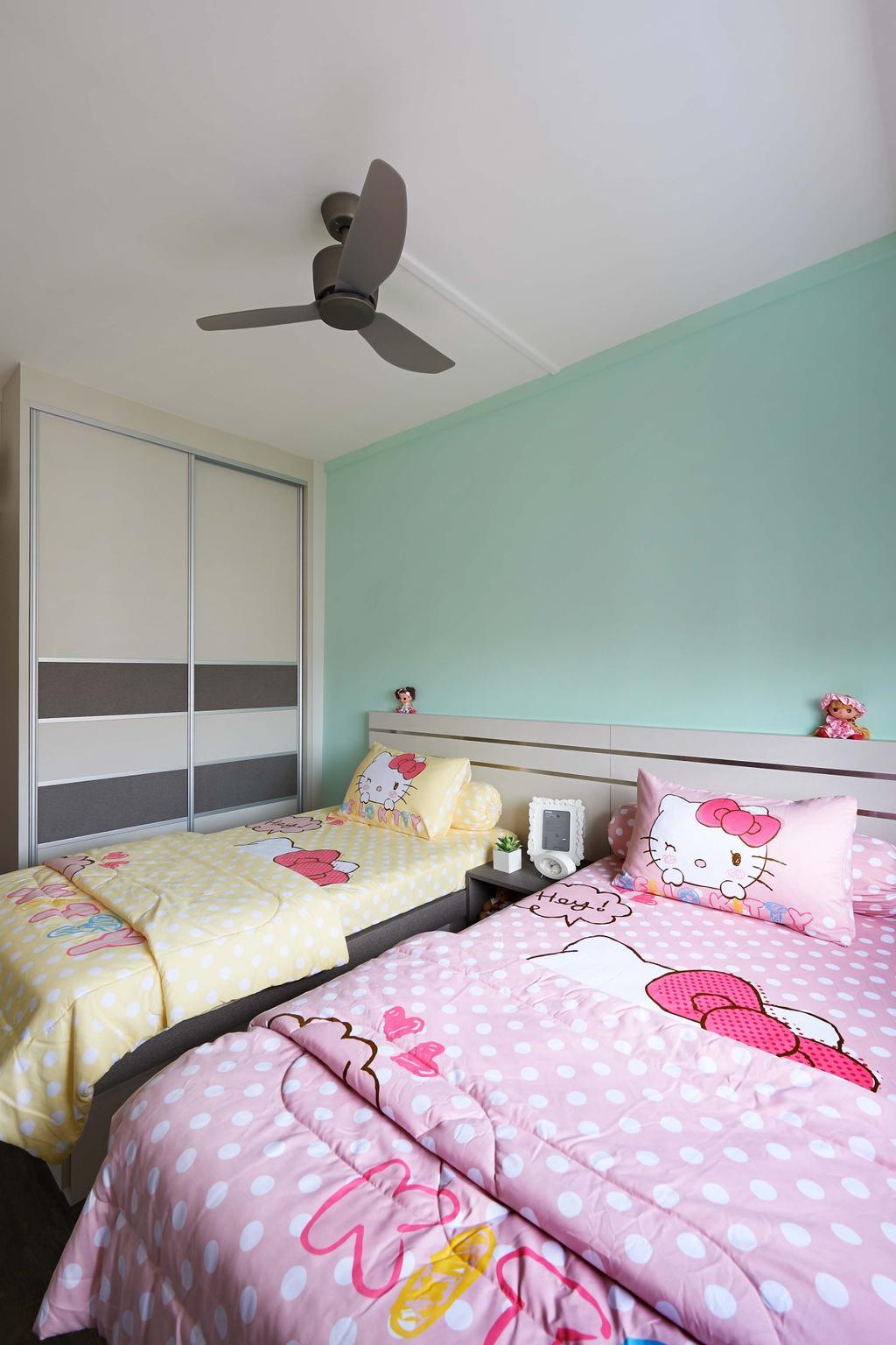 Eclectic, HDB, Bedroom, Rivervale Drive (Block 124A), Interior Designer, AC Vision Design