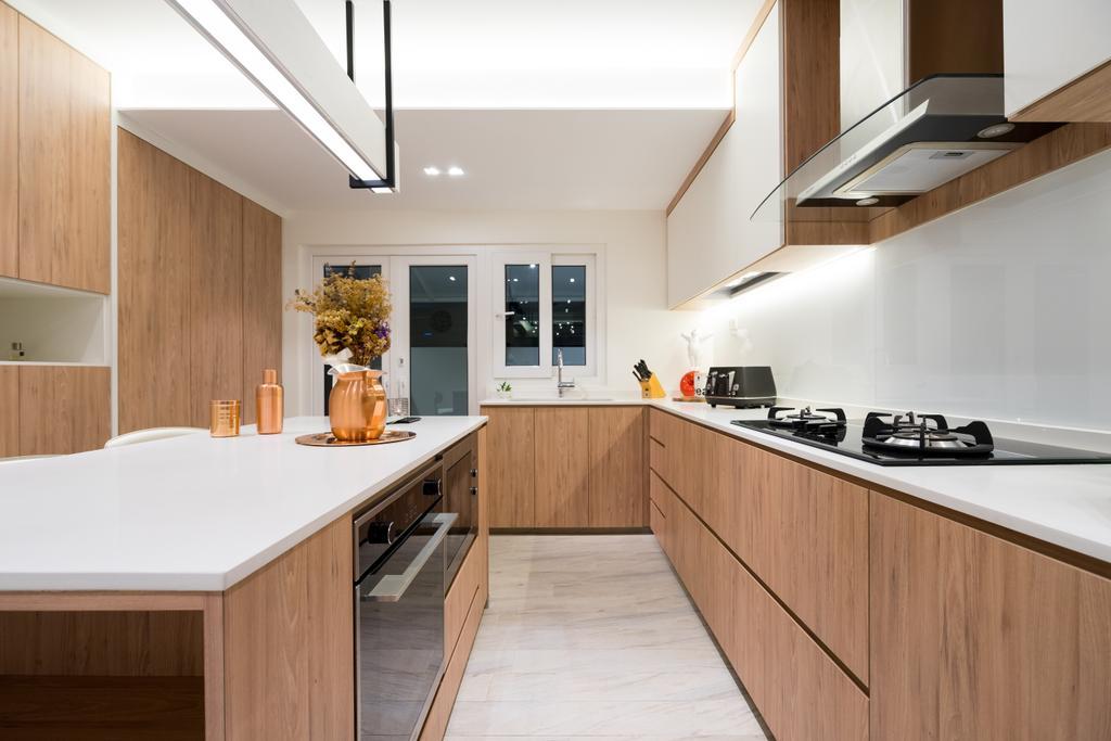 Scandinavian, Landed, Kitchen, Lorong 107 Changi, Interior Designer, Fineline Design, Indoors, Interior Design, Room