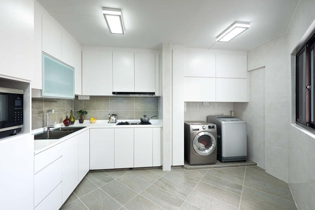 Eclectic, HDB, Kitchen, Rivervale Drive (Block 124A), Interior Designer, AC Vision Design