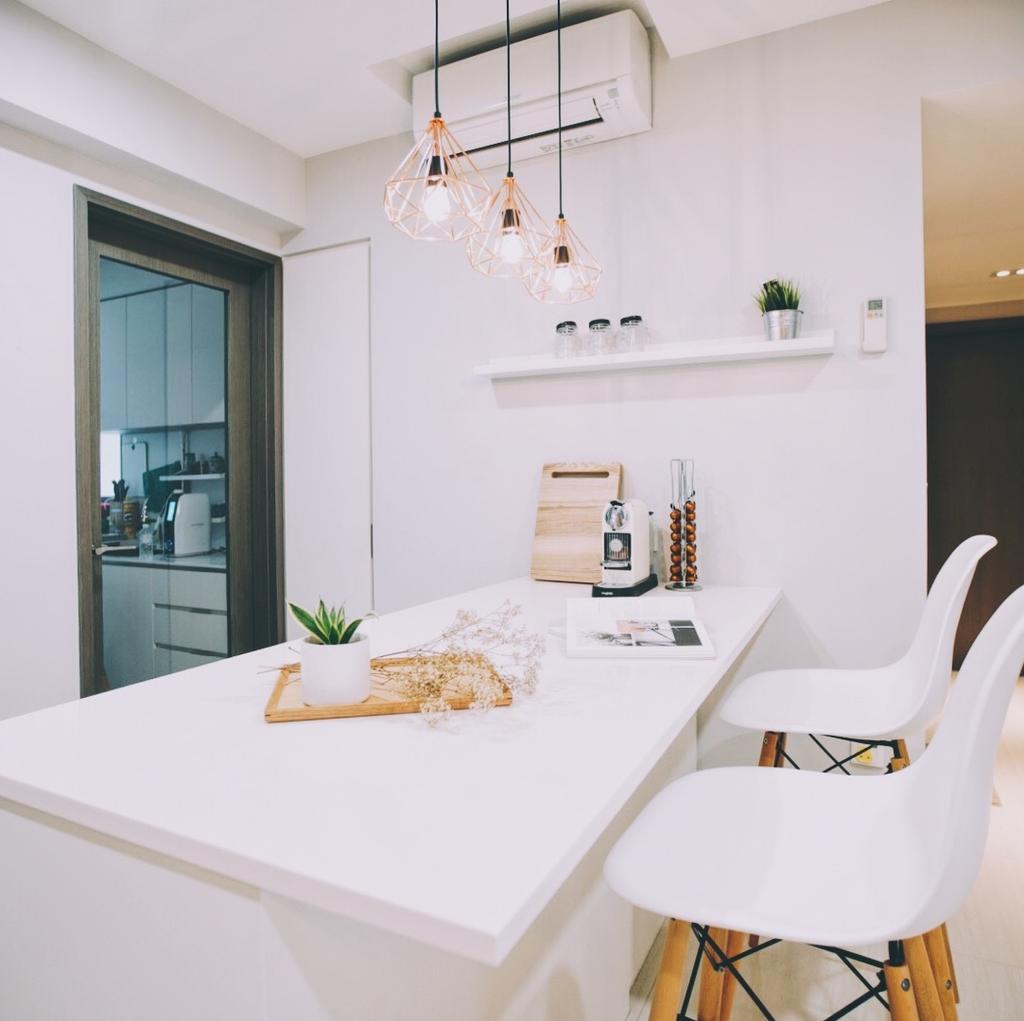 Modern, Condo, Dining Room, Bellewaters, Interior Designer, The Interior.Look, Flora, Jar, Plant, Potted Plant, Pottery, Vase, Chair, Furniture, Indoors, Interior Design, Room