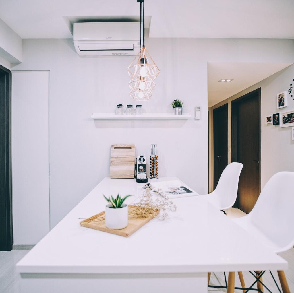 Modern, Condo, Dining Room, Bellewaters, Interior Designer, The Interior.Look, Indoors, Interior Design, Room