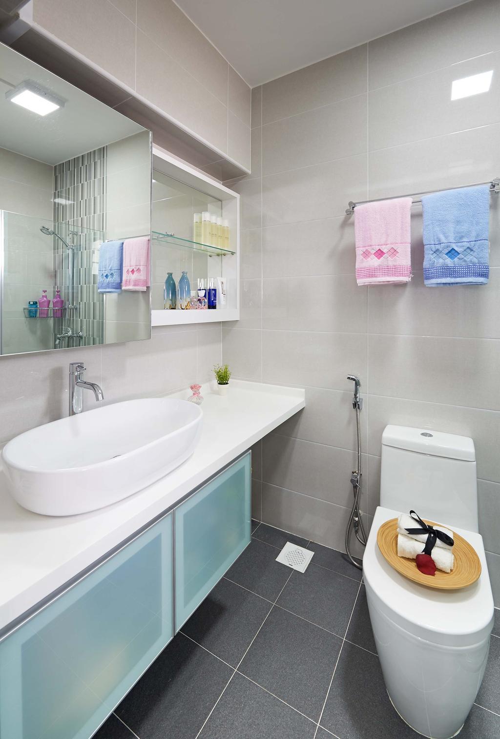Eclectic, HDB, Bathroom, Rivervale Drive (Block 124A), Interior Designer, AC Vision Design