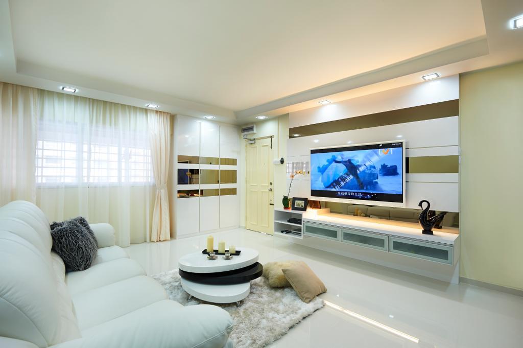 Eclectic, HDB, Living Room, Ang Mo Kio (Block 304), Interior Designer, AC Vision Design