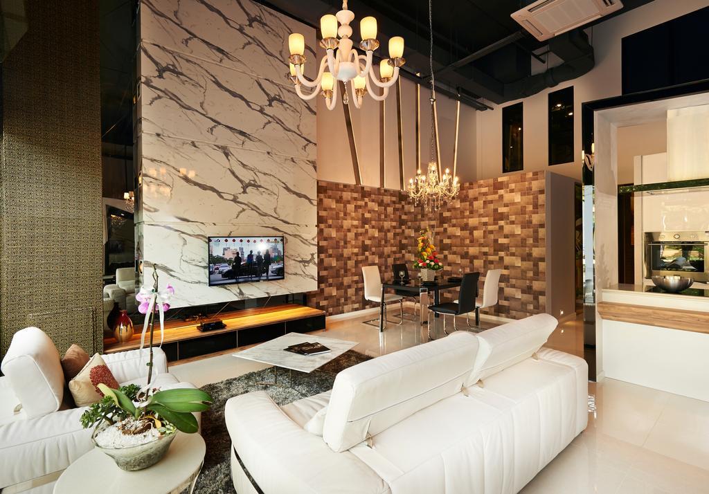 Showroom at Northstar@AMK, Commercial, Interior Designer, AC Vision Design, Contemporary, Living Room