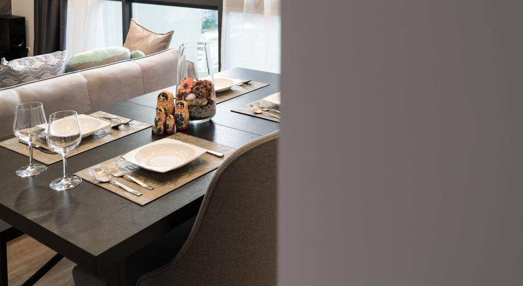 Contemporary, Condo, Dining Room, The Amore, Interior Designer, Artmuse Interior, Dessert, Donut, Food, Pastry, Dining Table, Furniture, Table