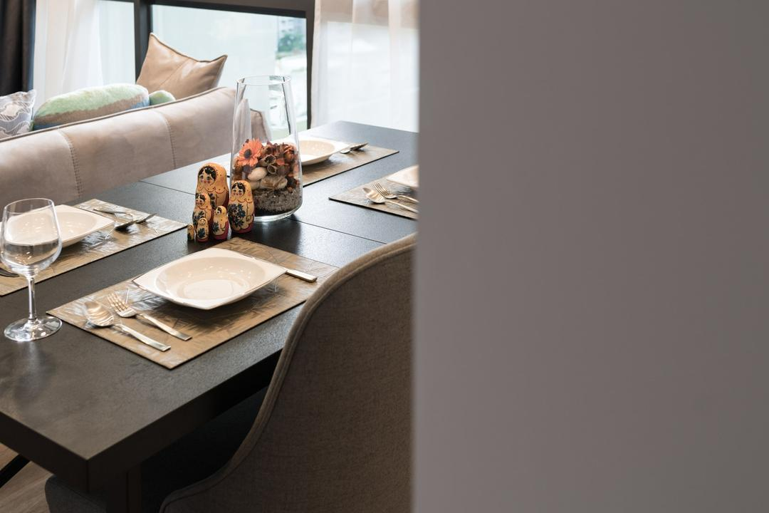The Amore, Artmuse Interior, Contemporary, Dining Room, Condo, Dessert, Donut, Food, Pastry, Dining Table, Furniture, Table