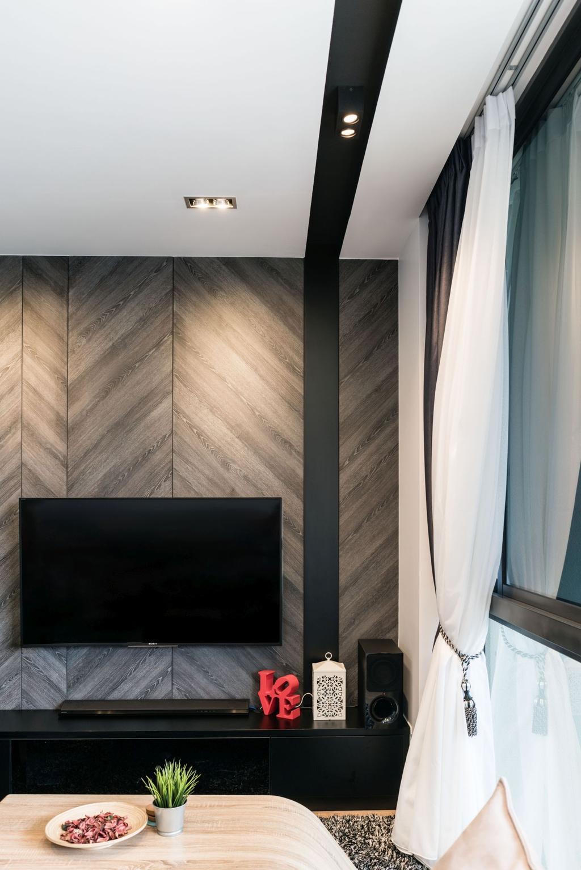 Contemporary, Condo, Living Room, The Amore, Interior Designer, Artmuse Interior, Curtain, Home Decor