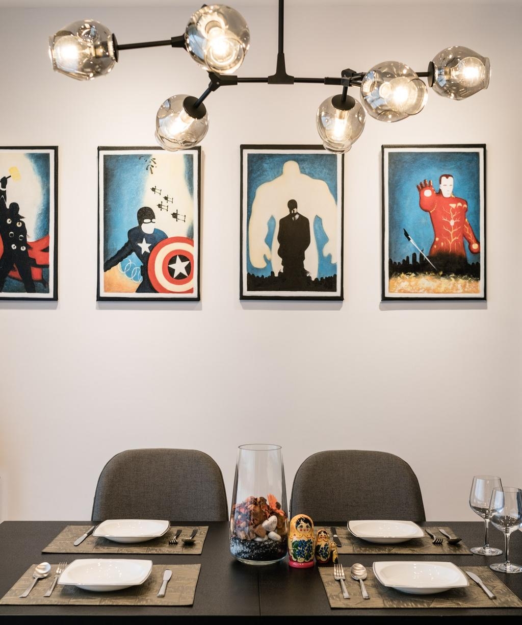 Contemporary, Condo, Dining Room, The Amore, Interior Designer, Artmuse Interior, Human, People, Person, Art, Painting