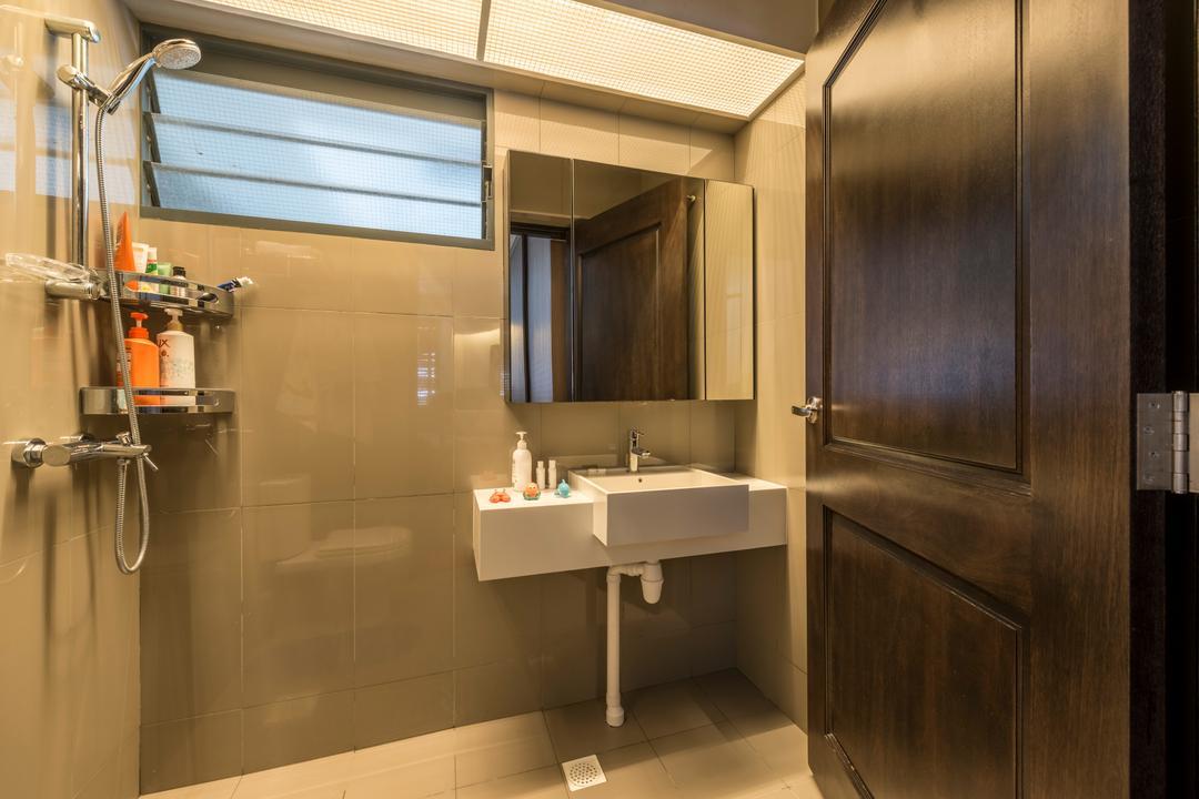 Punggol Waterway Terrace (Block 310A), Fatema Design Studio, Contemporary, Scandinavian, Bathroom, HDB, Plumbing, Sink, Indoors, Interior Design, Room