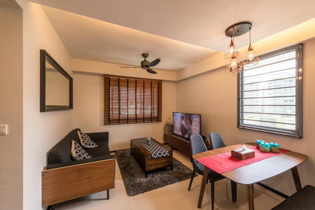 Punggol Waterway Terrace (Block 310A) Living Room Interior Design 8